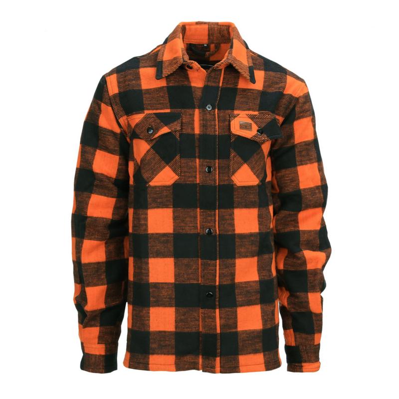 Houthakkers Overhemd Longhorn - Oranje/zwart