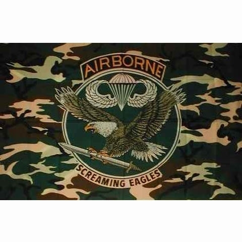 Vlag Airborne camo (adelaar)