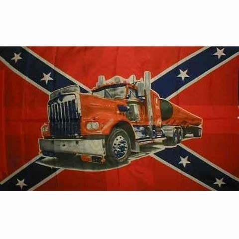 Vlag Rebel Truck