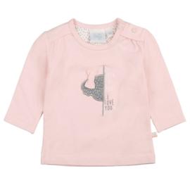 Feetje We are family girls shirt roze peek a boo 516.01557