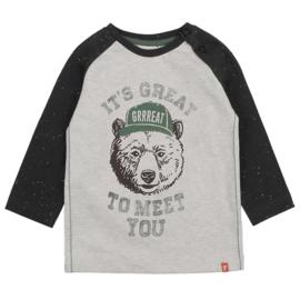 Feetje Bear Hugs shirt grey melange 516.01621