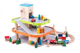 Houten garage  met lift - woody