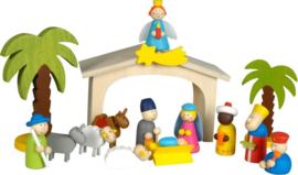 Kerststal simply for kids van hout