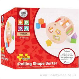 Bigjigs roller met vormen blokken