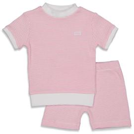 Feetje pyama kort wafel roze 305.539