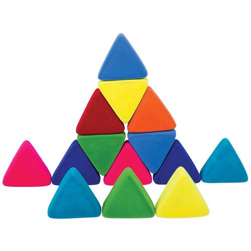Rubbabu puzzelblokken driehoek 9 stuks