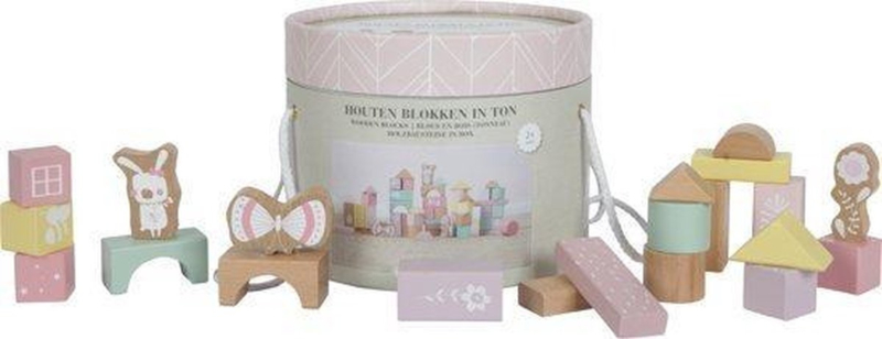 Little Dutch blokkenton roze pastel