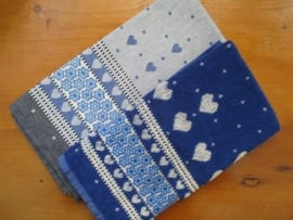 Theedoek en handdoek Valentine Royal Blue