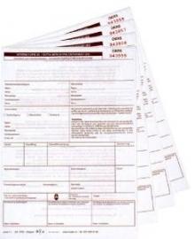100 st OKRS koeriersvrachtbrieven, 4-voudig A5 formaat (art 1004100)