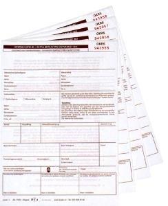 250 st OKRS koeriersvrachtbrieven, 4-voudig A5 formaat (art 1004250)