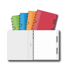 ADOC Colorlines A5 Notebook + Pockets + Dividers Squared