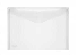 Pak van 10 x Enveloptas A4 Transparant met klittenbandsluiting
