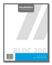 Pack of 5 x Jotter Pad 5x5 mm squares, recycled paper 204Q5