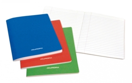 Pack of 10 x Exercise Book A4, laminated cover, feint, 60EET
