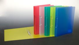 Doos met 24 Ringbanden A4, PP, 2-rings, assorti kleuren