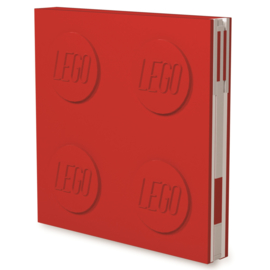 Lego Locking Notebook rood