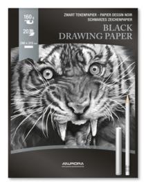 Tekenblok zwart papier BL33