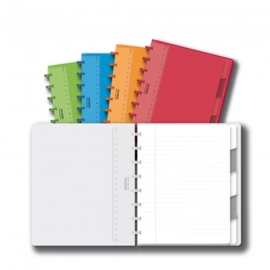 ADOC Colorlines A5 Notebook + Pockets + Dividers Feint