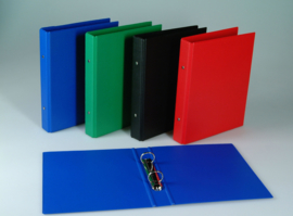Doos van 24 x Ringband A4 PVC 2-rings assorti kleuren 3102