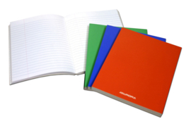 Pack of 6 x Exercise Book A5, laminated cover, feint, 3120NSE1L