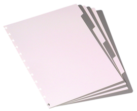 ADOC Set Tabbladen Black & White A4 6-delig, XL