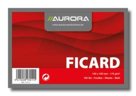 Ficard Systeemkaarten 15 x 10 cm, blanco 41210