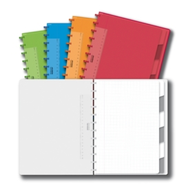 ADOC Colorlines A4 Notebook + Pockets + Dividers Squared