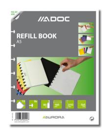 ADOC Pap-Ex A5 Navulling/Refill Geruit 5 mm papier