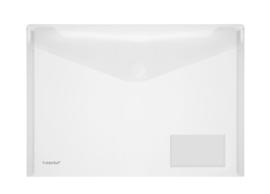 Pak van 10 x Enveloptas A4 Transparant met visitekaartvenster