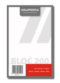 Kladblok blanco gerecycled papier 208U