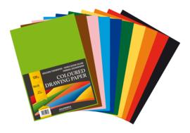 Doos met 10 x Pak met 100 losse Tekenvellen A4, 10 kleuren