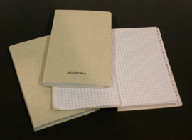Pack of 4 x Linen Notebook 145 x 220 mm, 5x5 squares, index - R23196SQ5