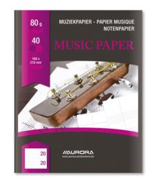 Pak van 25 x Muziekschrift A5 M201L