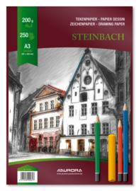 Pak met 250 losse Tekenvellen Steinbach Papier A3, wit