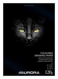 Pak van 15 x Hobby/Knutsel/Tekenblok 245x345mm, gekleurd papier BL7