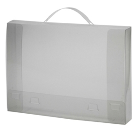 Pak van 10 x Document Box Transparant met handgreep