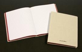 Linnen Schriften 6100SQ5, geruit, 165 x 210 mm