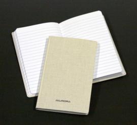 Pack of 10 x Linen Notebook 105 x 165 mm, 7mm feint - 966GT