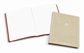 Pack of 4 x Linen Notebook 165 x 210 mm, 8 mm feint -  6200S1L