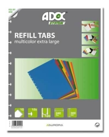 ADOC Dividers Multicolour A4 10 tabs, XL