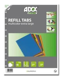 ADOC Set Tabbladen Multi Color A4 10-delig, XL