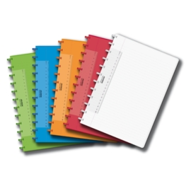 ADOC Colorlines A4 Notebook Feint