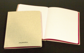 Pack of 20 x Linen Notebook 105 x 165 mm, 5x5 squares - 966GQ5