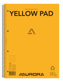 Pack of 5 x Yellow Pad Spiralbound A4 14800