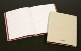 Pack of 4 x Linen Notebook 145 x 220 mm, 5x5 squares - 23196SQ5