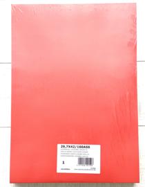 Pak met 250 losse Tekenvellen A3, 10 kleuren