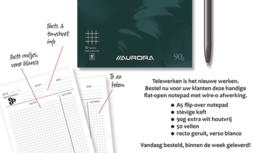 Pak van 10 x Online Meeting Notepad A5, geruit, dubbelspiraal W550VCQ5