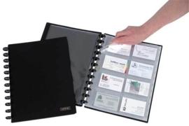 ADOC Card-Ex Standaard A4 Visitekaartmap met A-Z index voor 192 visitekaartjes