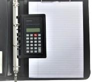 Ringbandmap met rits Leer A4 Zwart met losse calculator