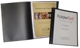 Set van 3 Presentatie Showmappen grijs A4 met variabel aantal insteekhoezen en vak voor CD - 25015/25017